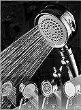 Duschkopf Regendusche, Emooqi 4-Modus Handbrause Hochdruck Spray Duschbrause mit bequemem Griff, abnehmbarer Handbrause Kopf für Entspannung Spa, Baden