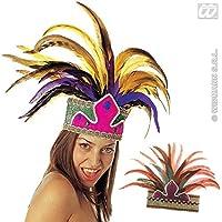 Rio De Janeiro Feather Crown Accessory for Fancy Dress