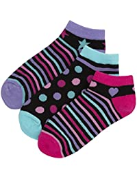 Zest Girls Cotton Rich Trainer Liner Socks
