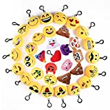 Mini Emoji Llavero, 35 Pack Emoticon Llavero Felpa...