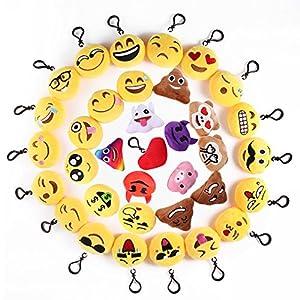 Mini Emoji Llavero, 35 Pack