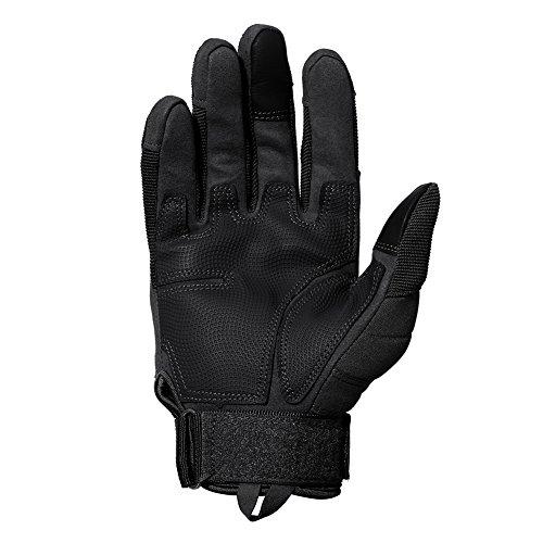 TACVASEN Taktische Handschuhe Winter Motorrad Handschuhe Herren Vollfinger Army Gloves Biking Ski Handschuhe (Schwarz, M) - 5
