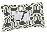Manuelle holzverarbeiter & Weavers Kissen Sham, Standard, Monogramm Buchstabe J, grau Honeycomb