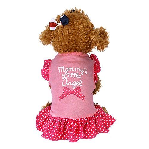 t Puppy Kleine Hund Katze Haustier Kleid Bekleidung Kleidung Fliegenhülse Lovely Buchstaben gedruckt Kleider Jungen Hund Mädchen Hunde ()