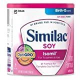 Similac Isomil Soy Infant Formula with Iron, Powder-12.4 oz (352 g)