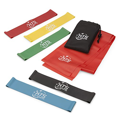 Resistance Bands - Set of 6 Fitness Bands  Large