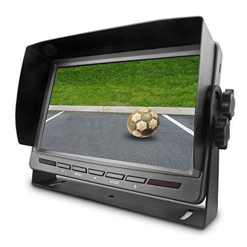Carmedien 7 Zoll TFT Monitor CM-MRFS72 für Rückfahrkamera Rückfahrsystem Display LCD Bildschirm 12V 24V LED 4x AV In - Mit Dvd-player Cinch-led-tv