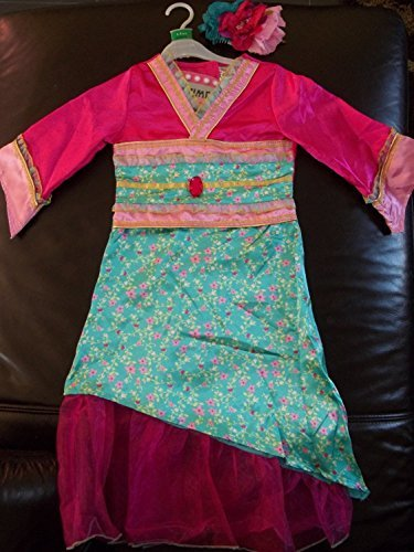chinese-new-year-green-oriental-princess-mulan-fancy-dress-3-5-5-8-8-11yrs-girls-costume-with-flower