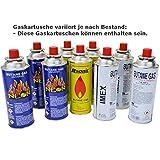 MSF-1a Butan Gaskartusche für Gaskocher Gas Butan Propan Campingkocher Grill Heizung Unkrautbrenner 10 Kartuschen