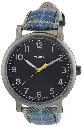 Timex Damen-Armbanduhr Originals Easy Reader Analog Leder T2N925
