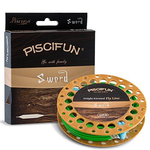 Piscifun® espada Peso adelante flotante mosca Línea de pesca con pasador Soldado WF345678WT 90100FT