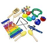 Innocheer Musical Instruments xilofono impostato per bambini percussioni giocattolo con una custodia con cerniera