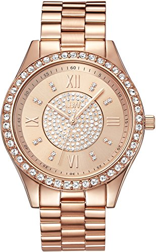JBW WOMEN'S MONDRIAN 37MM ROSE GOLD PLATED BRACELET & CASE QUARTZ WATCH J6303C