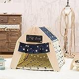 Myyxt Tente de Chat Pliable Chat Minou Version amovible et lavable en toile synthétique en toile de coton et tilde