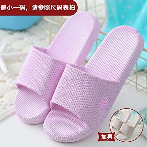 DogHaccd pantofole,Pantofole donna estate fresca estate ciabatte da bagno home giovane in camera cool pantofole La porpora2