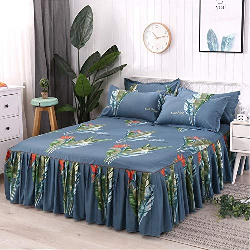 Bed Cover Bed Matratze Einzelbett Rock Baumwolle gesteppte Baumwolle Aloe Serie über den Regenwald -
