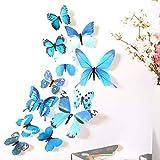 Gleecare Wandaufkleber Dreidimensionale Simulation Schmetterling transparent Drucken home Dekoration Wohnzimmer Schlafzimmer Aufkleber