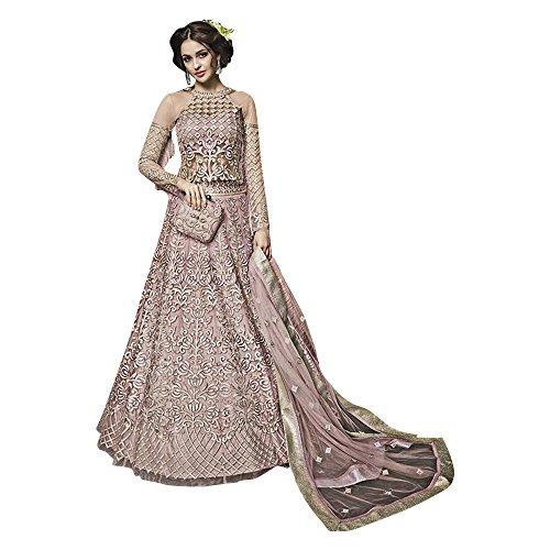 Bereit, Größe 32 bis 46 Bollywood Anarkali Salwar Kostüm pakistanischen muslimischen Frauen Cocktailkleid langes Kleid ethnische ethnische Party tragen Hochzeit Zoya 735 (Bluse Lace Georgette)