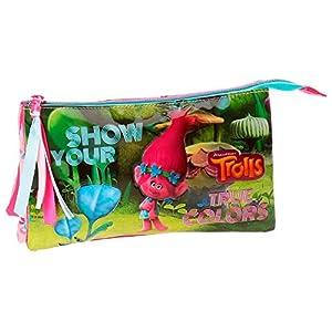 Trolls True Colors Neceser de Viaje, 22 cm, 1.32 litros