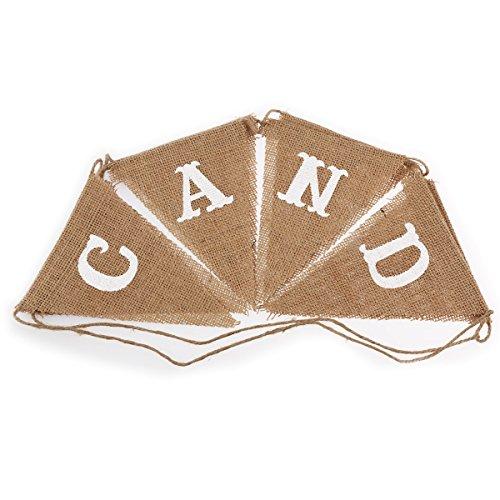 ROSENICE 8pcs CANDY BAR Bandiera del Partito della Stamina Pennant Matrimoni Feste di Compleanno