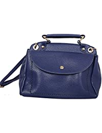 Heartly Women's Stylish Plain Faux Patent Leather Design Fashion Shoulder Sling Bag With Adjustable Strap - Color