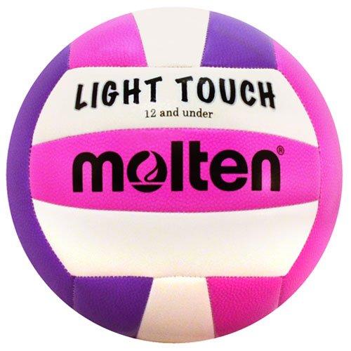 Molten MS240-3Leicht-Volleyball, rot/weiß/blau, MS240-VP, violett/pink, 12 & Under/8.1 oz
