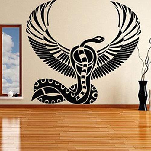 guijiumai Wanddekoration Ägypten Ägyptische Götter Zimmer Aufkleber Vinylkunst Abnehmbare Poster Moderne Ornament Anubis Ra Seth Apis Wandbild Rosa 47x42 cm