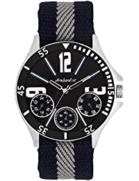 Armbandsur Analog Chronograph Black Dial Nylon Strap - ABS0021MBM