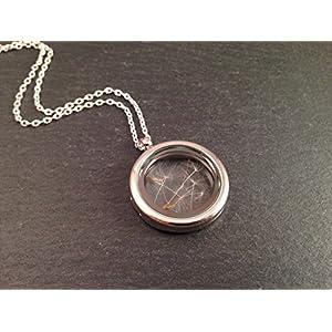Medaillonkette Pusteblume Silber