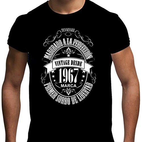 Camiseta para regalo de 50 cumpleaños para hombre Matured 1967 en negro...
