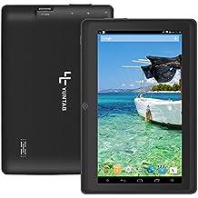 Yuntab Q88H 7 pulgadas Quad Core Google Android 4.4 con Tablet PC, pantalla, 1024 * 600 Resolutioon de HD, 8GB ROM, Wi-Fi, Bluetooth, juegos, cámaras duales Negro