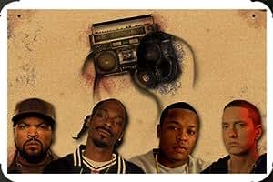 Ice Cube Snoop Dogg Dr Dre Eminem Metal Poster enseigne marque 20x30cm