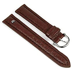 Maurice Lacroix Replacement Band Watch Band Leather Tiago brown 21728S, width:14mm