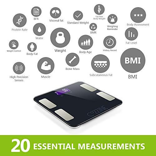 percentuale di grasso corporeo per sei confezioni da mostrare