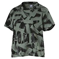 Puma FUSION Cropped AOP Tee For Women - Green L