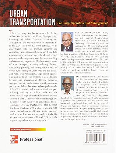 Urban Transportation: Planning, Operation and Management