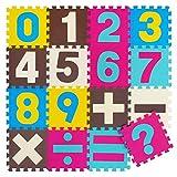 meiqicool Puzzlematte Tiere Puzzleteppich Baby Puzzlematte Schadstofffrei Bodenpuzzle Schaumstoff Puzzlematte Schadstofffrei Puzzle-Zubehör Teppiche & Läufer