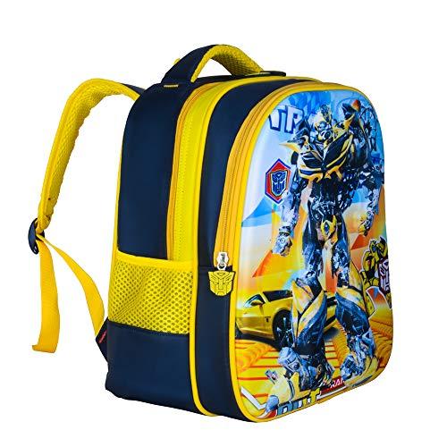 Kindergartenrucksack Jungen und Mädchen Umhängetasche Cartoon Kindertasche Schultaschen gelb Transformers klein 33 * 16 * 25cm
