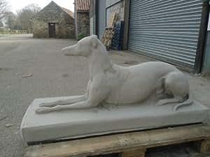 Grande statue en pierre Greyhound vie Taille lourds livraison gratuite