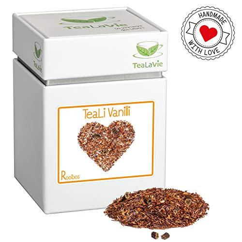 TEALAVIE - Rooibos Tee lose | TeaLi Vanilli - edle Vanille | 100g Dose loser Rotbusch Tee aus Südafrika