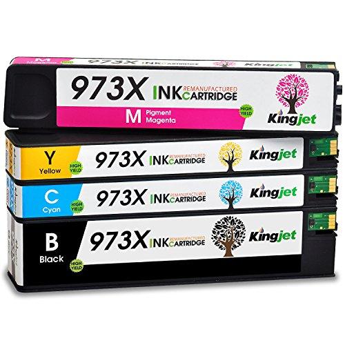 Kingjet 973X Multipack Ersatz für HP 973X Druckerpatronen für HP PageWide Pro 452dw 452dwt 452dn 477dw 477dwt 477dn 552dw 577dw 577z