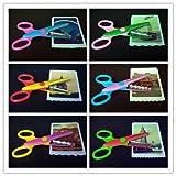 Eoyhdsia 6pcs creativo carta forbici decorative Wave Lace Edge forbici & # xFF08; colore casuale & # XFF09;