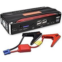 MICTUNING Jump Starter Batería Portátil de Emergencia para coche, 600A Peak 16800mAh alta capacidad de batería de dispositivo automático y Banco de energía portátil