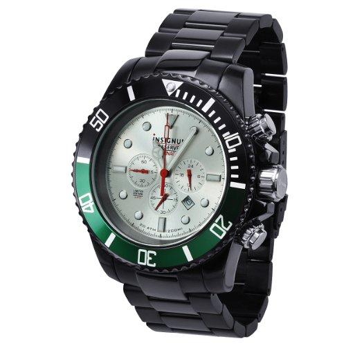 Insignum ip212396–Armbanduhr, Armband aus Edelstahl Farbe Schwarz