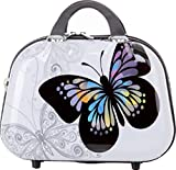 BEIBYE Reisekoffer Hartschalen Hardcase Trolley Zahlenschloss Polycarbonat SET--XL-L--M-- Beutycase (Butterfly, S(Beautycase))