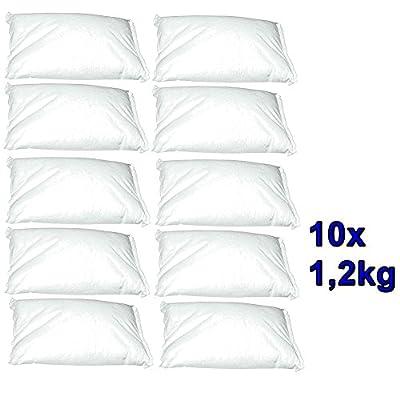 10 Nachfüllpackungen à 1,2 kg für Raumentfeuchter - verhindert Schimmel, Moder, üble Gerüche, Stockflecken - Raum-Entfeuchter von move - TapetenShop