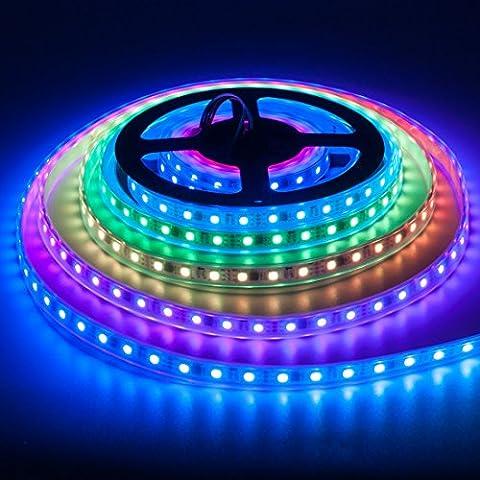 BTF-LIGHTING WS2811 5m Addressable Led Strip 60leds/pixels/m 300leds IP67 Silicone