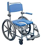 Days Deluxe Blue Self Propelled Wheeled Shower Commode Chair
