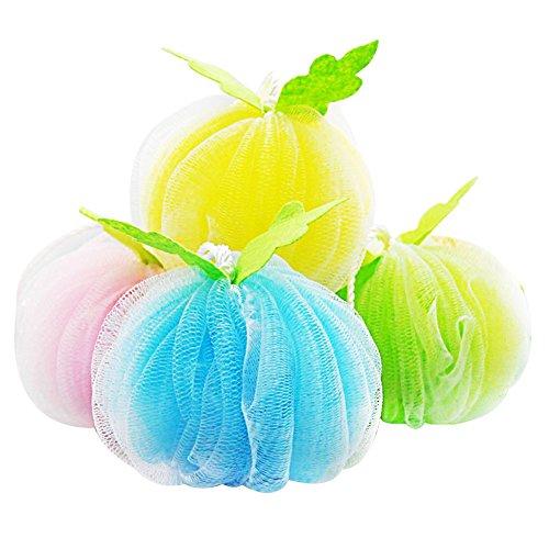 Da.Wa 2 Stück Großes Bad Dusche Schwamm Pouf Loofahs 60g Jede Umweltfreundliche Peeling Mesh Pinsel Pouf Bad Dusche Ball Schwamm -Exfoliate, Reinigen, beruhigen Haut-Random Farbe