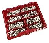 Rohrkabelschuh Starter Set Sortimentskasten 4-16mm² inkl.Crimpzange 120 Quetschverbinder I Industriequalität